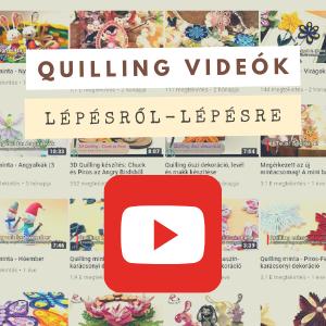 Quilling papírcsíkok, eszközök és minták webáruháza
