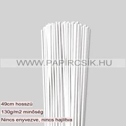 Fehér (Hófehér), 3mm-es quilling papírcsík (120db, 49cm)