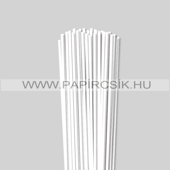Fehér (Hófehér), 4mm-es quilling papírcsík (110db, 49cm)