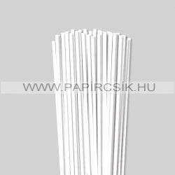 Fehér (Hófehér), 5mm-es quilling papírcsík (100db, 49cm)
