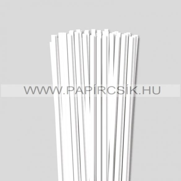 Fehér (Hófehér), 6mm-es quilling papírcsík (90db, 49cm)