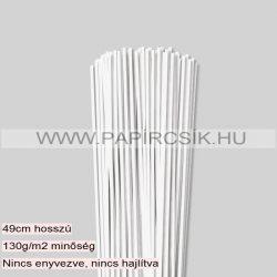 Gyöngyfehér (Törtfehér), 3mm-es quilling papírcsík (120db, 49cm)