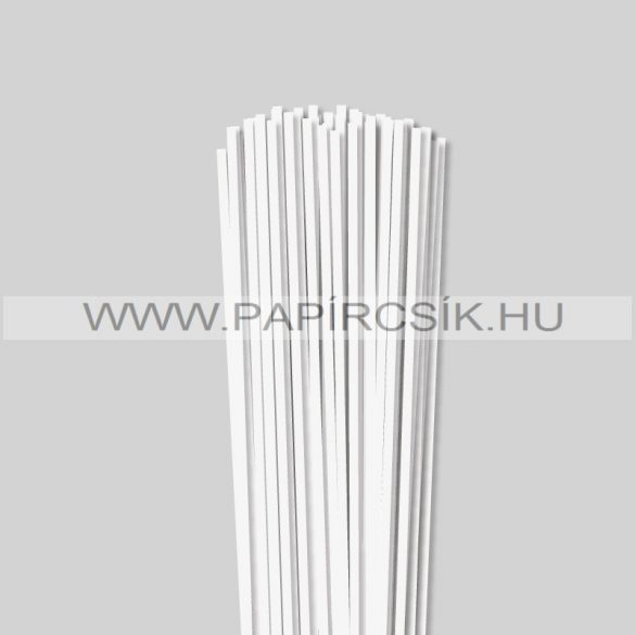 Gyöngyfehér (Törtfehér), 4mm-es quilling papírcsík (110db, 49cm)