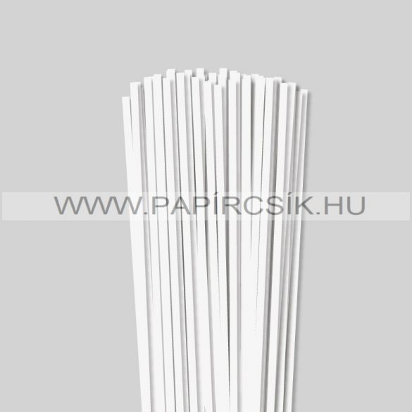 Gyöngyfehér (Törtfehér), 5mm-es quilling papírcsík (100db, 49cm)