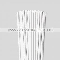 Gyöngyfehér (Törtfehér), 6mm-es quilling papírcsík (90db, 49cm)