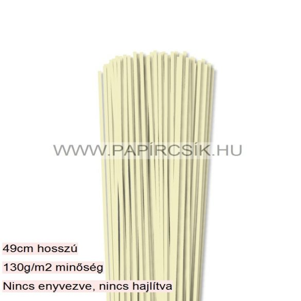 Vanilia, 3mm-es quilling papírcsík (120db, 49cm)
