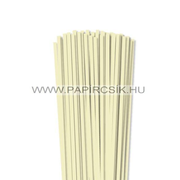 Vanilia, 5mm-es quilling papírcsík (100db, 49cm)