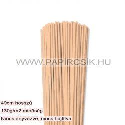 Testszín/Barack, 3mm-es quilling papírcsík (120db, 49cm)