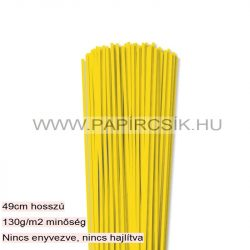 Sárga, 3mm-es quilling papírcsík (120db, 49cm)