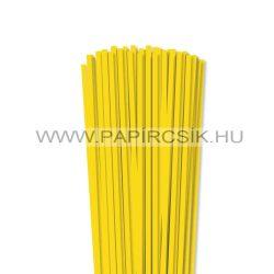 Sárga, 5mm-es quilling papírcsík (100db, 49cm)