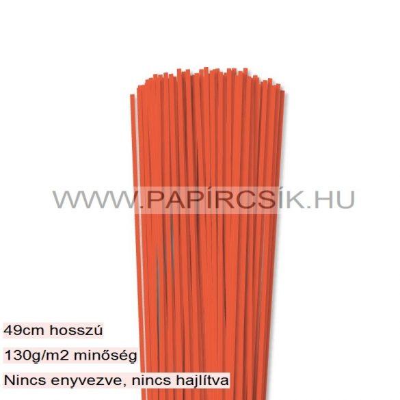 Narancs, 3mm-es quilling papírcsík (120db, 49cm)