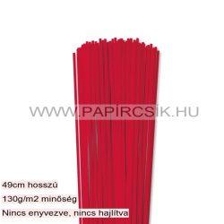 Piros, 3mm-es quilling papírcsík (120db, 49cm)