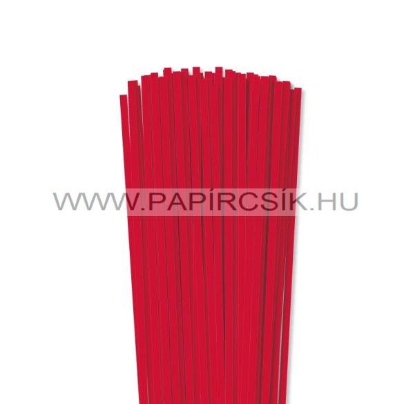 Piros, 5mm-es quilling papírcsík (100db, 49cm)