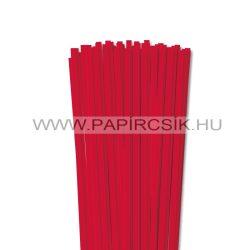 Piros, 6mm-es quilling papírcsík (90db, 49cm)