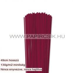 Bordó, 3mm-es quilling papírcsík (120db, 49cm)