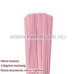 Rózsaszín, 3mm-es quilling papírcsík (120db, 49cm)