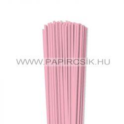 Rózsaszín, 4mm-es quilling papírcsík (110db, 49cm)