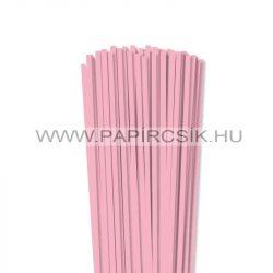Rózsaszín, 5mm-es quilling papírcsík (100db, 49cm)