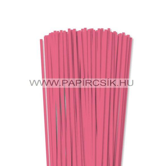 Közép Rózsaszín, 5mm-es quilling papírcsík (100db, 49cm)