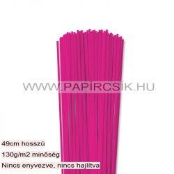 Pink, 3mm-es quilling papírcsík (120db, 49cm)