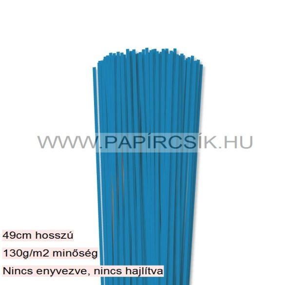 Kék, 3mm-es quilling papírcsík (120db, 49cm)