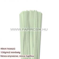 Halványzöld, 3mm-es quilling papírcsík (120db, 49cm)