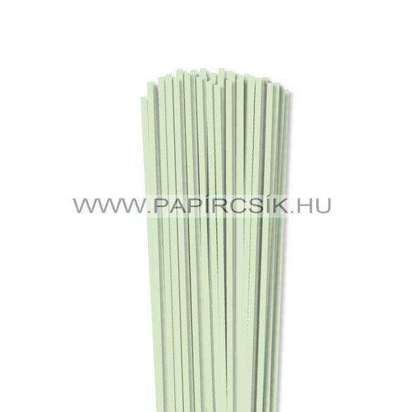 Halványzöld, 4mm-es quilling papírcsík (110db, 49cm)