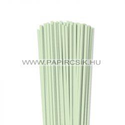 Halványzöld, 5mm-es quilling papírcsík (100db, 49cm)
