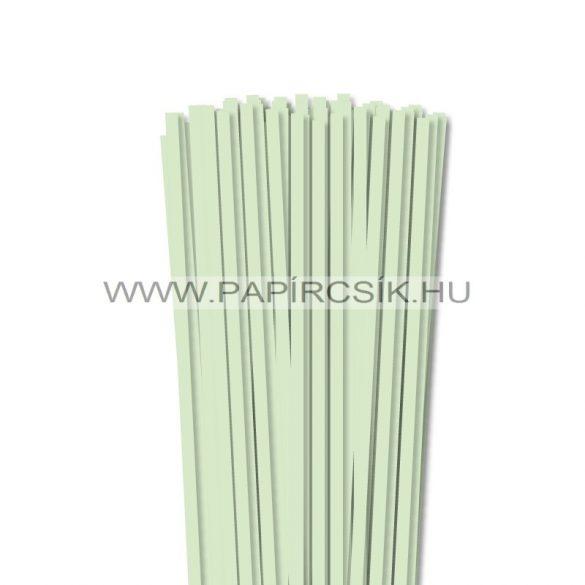 Halványzöld, 6mm-es quilling papírcsík (90db, 49cm)