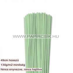 Középzöld, 3mm-es quilling papírcsík (120db, 49cm)