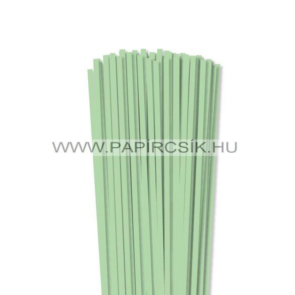 Középzöld, 5mm-es quilling papírcsík (100db, 49cm)