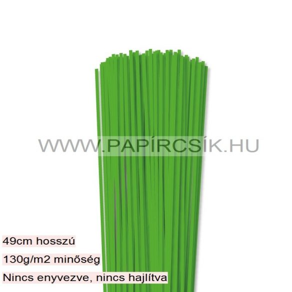 Fűzöld, 3mm-es quilling papírcsík (120db, 49cm)