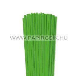 Fűzöld, 5mm-es quilling papírcsík (100db, 49cm)