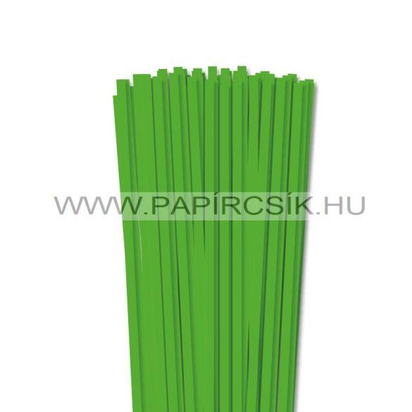 Fűzöld, 6mm-es quilling papírcsík (90db, 49cm)