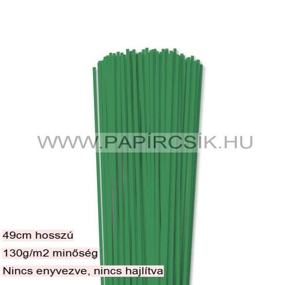Mohazöld, 3mm-es quilling papírcsík (120db, 49cm)