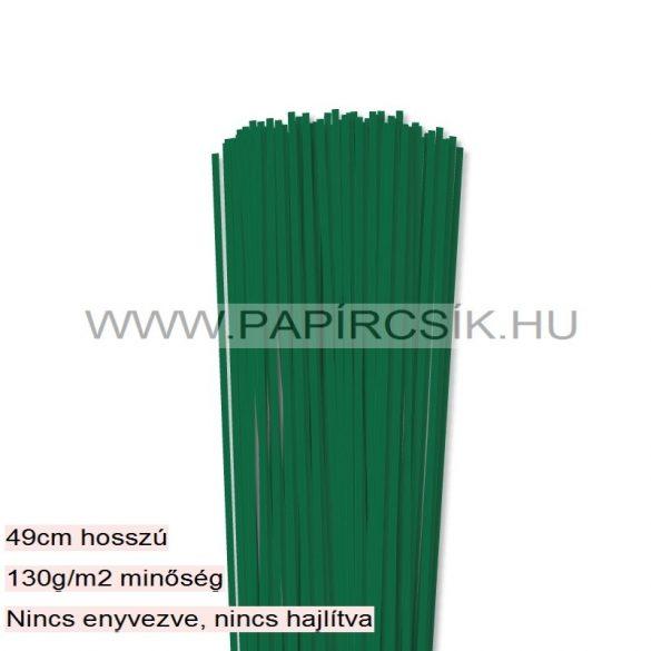 Sötétzöld, 3mm-es quilling papírcsík (120db, 49cm)