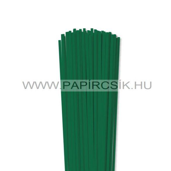 Sötétzöld, 4mm-es quilling papírcsík (110db, 49cm)