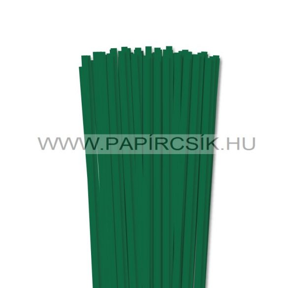 Sötétzöld, 6mm-es quilling papírcsík (90db, 49cm)