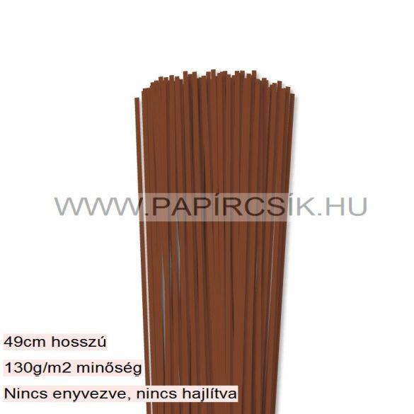 Barna, 3mm-es quilling papírcsík (120db, 49cm)