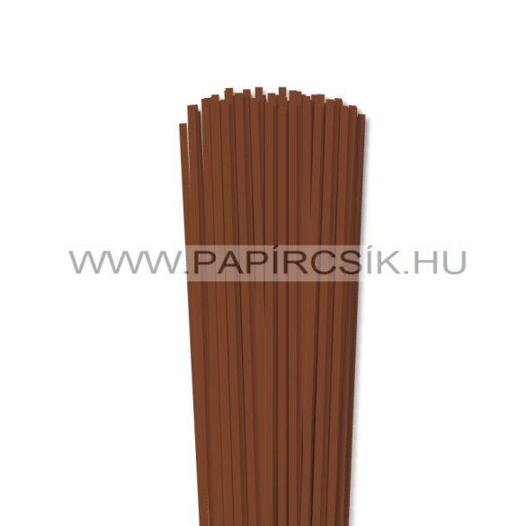 Barna, 4mm-es quilling papírcsík (110db, 49cm)