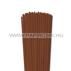 Barna, 5mm-es quilling papírcsík (100db, 49cm)