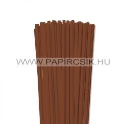 Barna, 6mm-es quilling papírcsík (90db, 49cm)