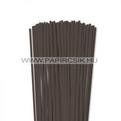 Sötétbarna, 5mm-es quilling papírcsík (100db, 49cm)