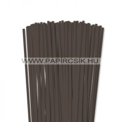Sötétbarna, 6mm-es quilling papírcsík (90db, 49cm)