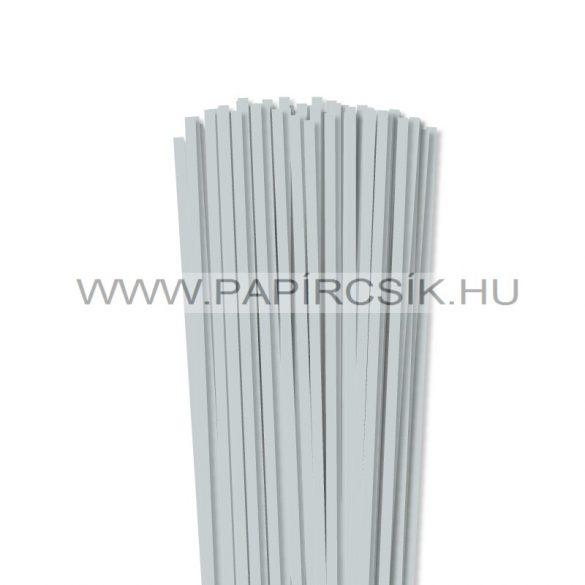 Világoszürke, 5mm-es quilling papírcsík (100db, 49cm)