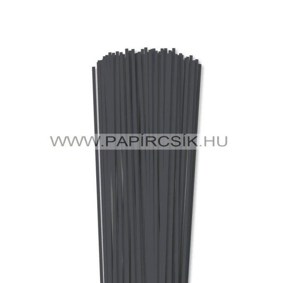 Antracit, 3mm-es quilling papírcsík (120db, 49cm)
