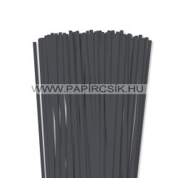 Antracit, 6mm-es quilling papírcsík (90db, 49cm)