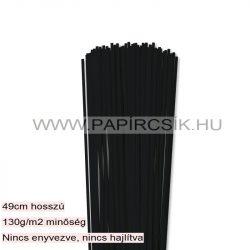 Fekete, 3mm-es quilling papírcsík (120db, 49cm)