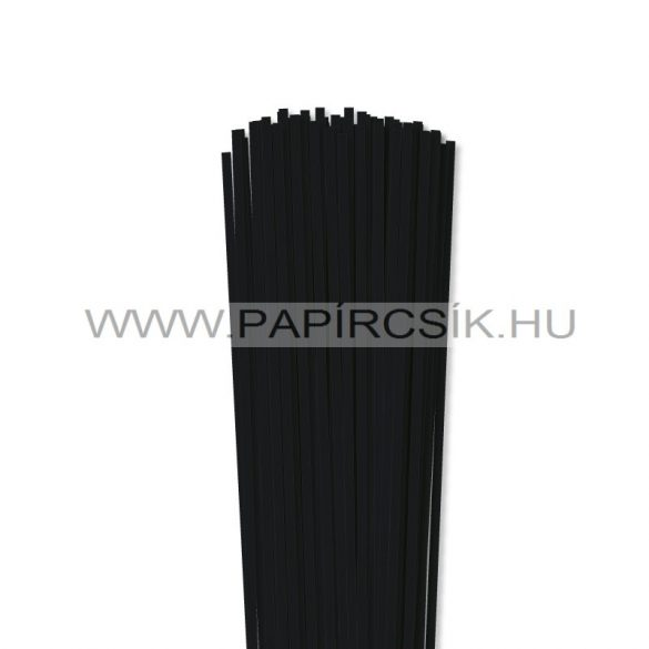 Fekete, 4mm-es quilling papírcsík (110db, 49cm)