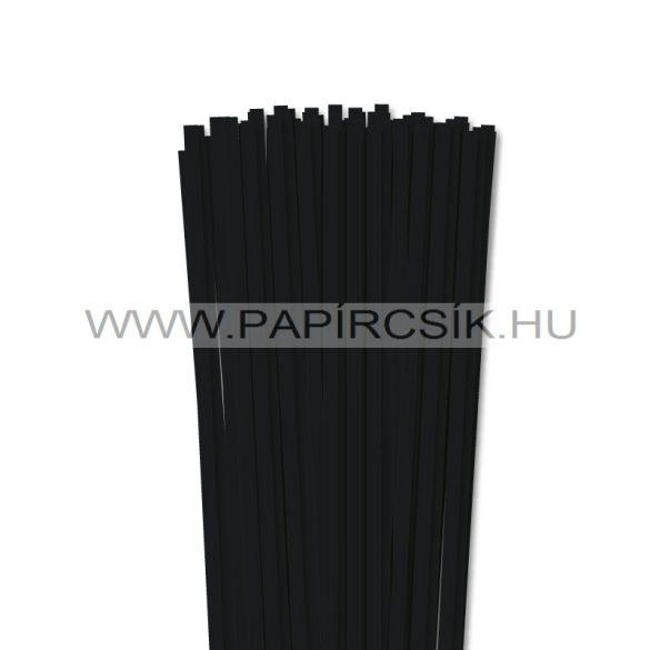 Fekete, 6mm-es quilling papírcsík (90db, 49cm)